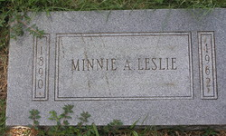 Minnie Alice <I>Highfill</I> Leslie