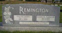 Martha <I>Hanks</I> Remington