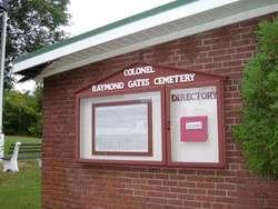 Colonel Raymond F. Gates Memorial Cemetery
