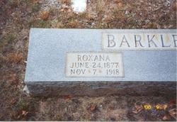 Roxana <I>Cartwright</I> Barkley