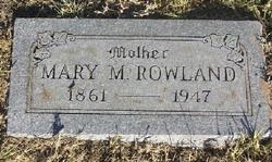"""Mary M """"Babe"""" <I>Patterson</I> Rowland"""