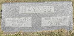 Jessie <I>Johnson</I> Haynes