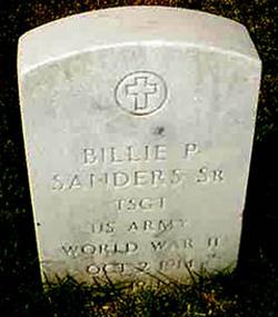 Sgt Billie P. Sanders, Sr