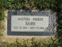 Malvina <I>Parker</I> Baird