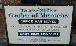 Temple Mount Zion Garden of Memories