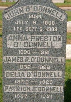 Anna <I>Preston</I> O'Donnell