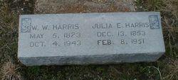 Julia Elizabeth <I>Finley</I> Harris