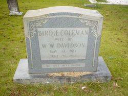 Birdie <I>Coleman</I> Davidson
