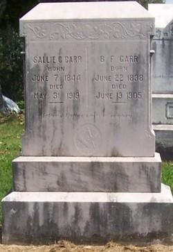 Sallie C. <I>Sharp</I> Carr