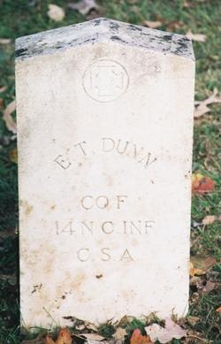 Pvt Edward T Dunn