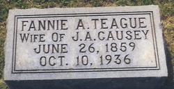 """Sarah Frances """"Fannie"""" <I>Teague</I> Causey"""