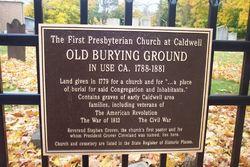 Caldwell Presbyterian Churchyard