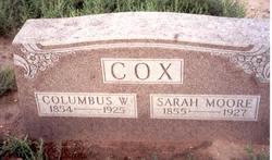 Sarah <I>Moore</I> Cox