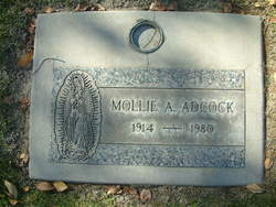 Mollie A <I>Aguilar</I> Adcock
