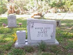 """Warner David """"WD"""" Yancey"""