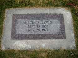 """Alice Florence """"Addin"""" <I>Green</I> Ervin"""