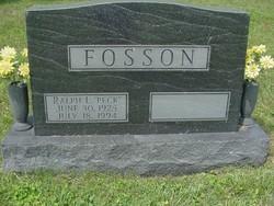 "Ralph Leonard ""Peck"" Fosson"