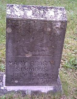 Mary Katherine <I>Beason</I> Simmons
