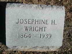 "Josephine Hilda ""Josie"" <I>Peterson</I> Wright"