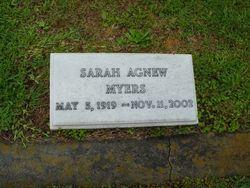 Sarah <I>Agnew</I> Myers