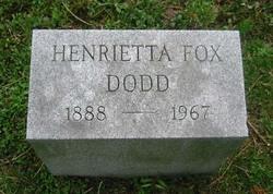 Henrietta <I>Fox</I> Dodd