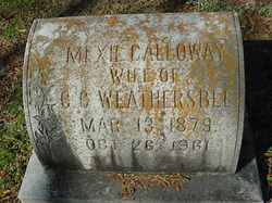 Mexie <I>Galloway</I> Weathersbee
