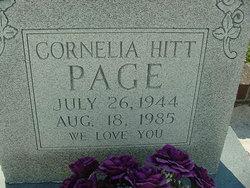 Cornelia <I>Hitt</I> Page