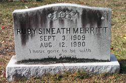 Ruby <I>Sineath</I> Merritt