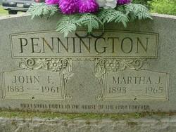 Martha Jane <I>Barker</I> Pennington