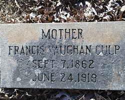 Francis <I>Vaughan</I> Culp