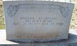 Matilda <I>Corpening</I> Brown