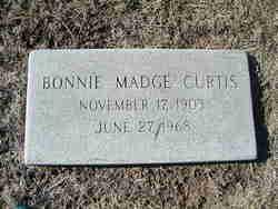 Bonnie Madge <I>Glisson</I> Curtis