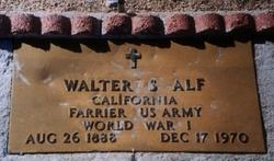 Walter S Alf