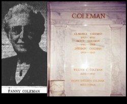 Fanny <I>Sheldon</I> Coleman