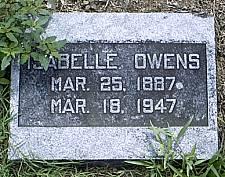 """Isabelle Sarah """"Belle"""" <I>Beeman</I> Owens"""