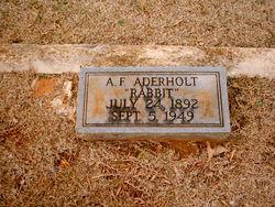 """Ansel F. """"Rabbit"""" Aderholt"""