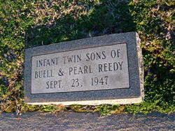 Infant Twin Sons of Buel L. & Pearl Reedy