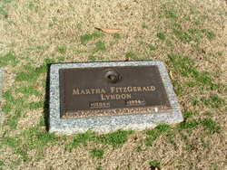 Martha <I>Fitzgerald</I> Lyndon