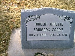 Amelia Jeanette <I>Edwards</I> Condie