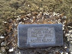 Abigail <I>Finch</I> Kelsey