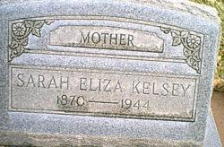 Sarah Eliza <I>Prince</I> Kelsey