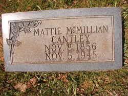 Martha Elizabeth <I>McMillan</I> Cantley