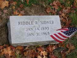 Riddle R Sidner