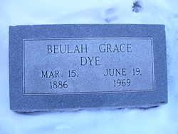 Beulah Grace <I>Isenhower</I> Dye
