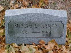 Miriam M <I>Hartman</I> Arner