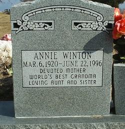 Annie <I>Baker</I> Winton