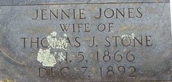 Jennie <I>Jones</I> Stone