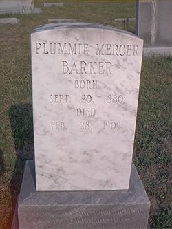 Plummie <I>Mercer</I> Barker