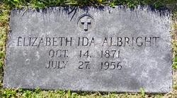 "Elizabeth Ida ""Lizzie"" <I>Gingrich</I> Albright"