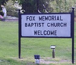 Fox Memorial Baptist Church Cemetery